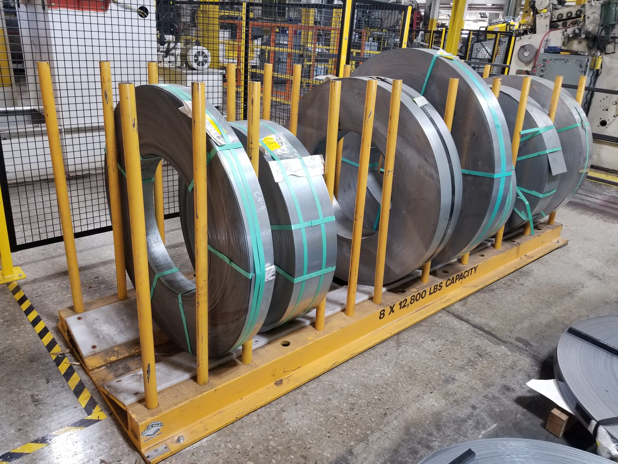 12,000 lb Capacity Coil Rack with Adjustable Posts