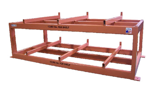 Mold and Die Rack w/ inline rollers