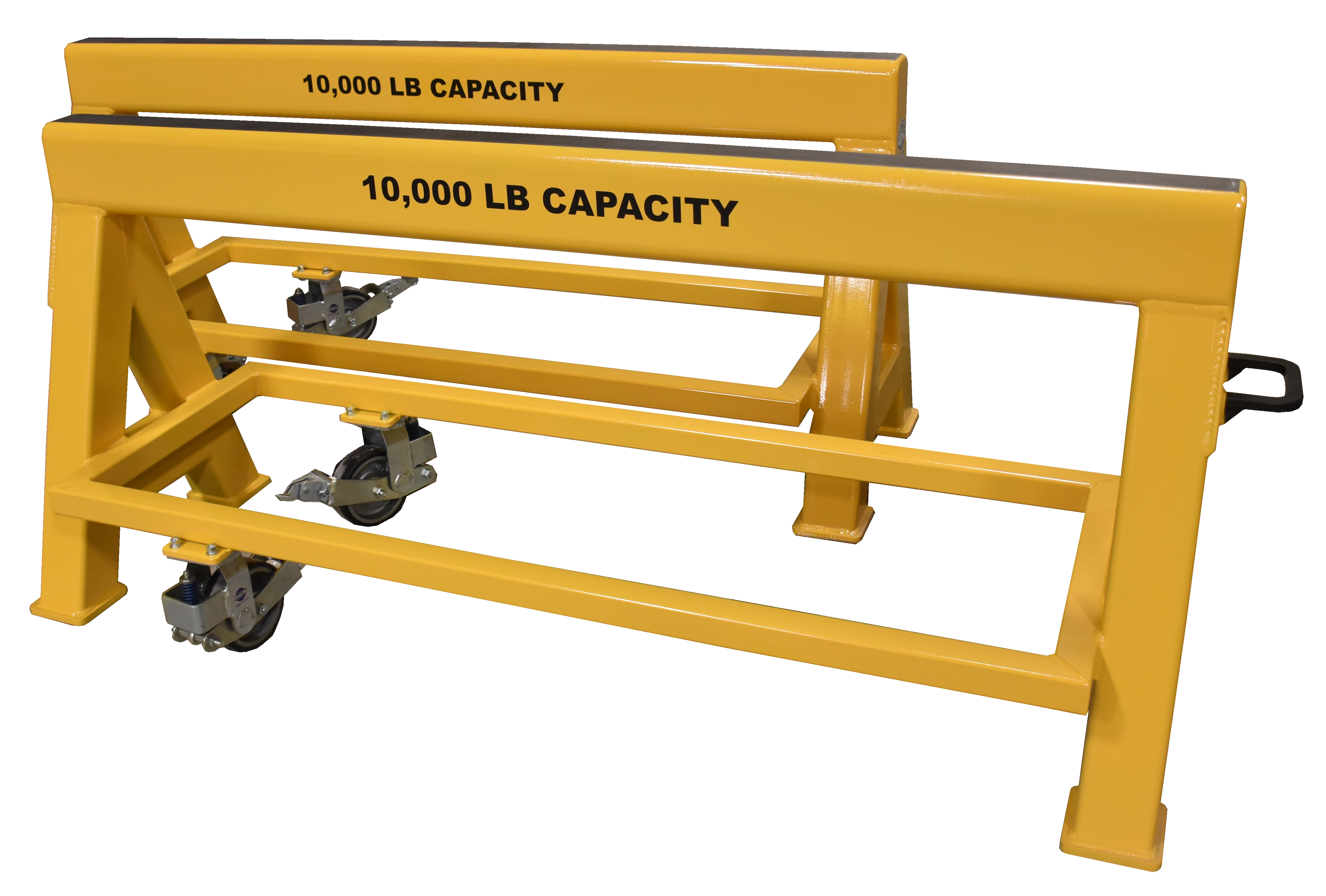 Heavy Duty Industrial steel sawhorse 10,000 LB. Steel Top Spring Loaded Compression Caster (194577)