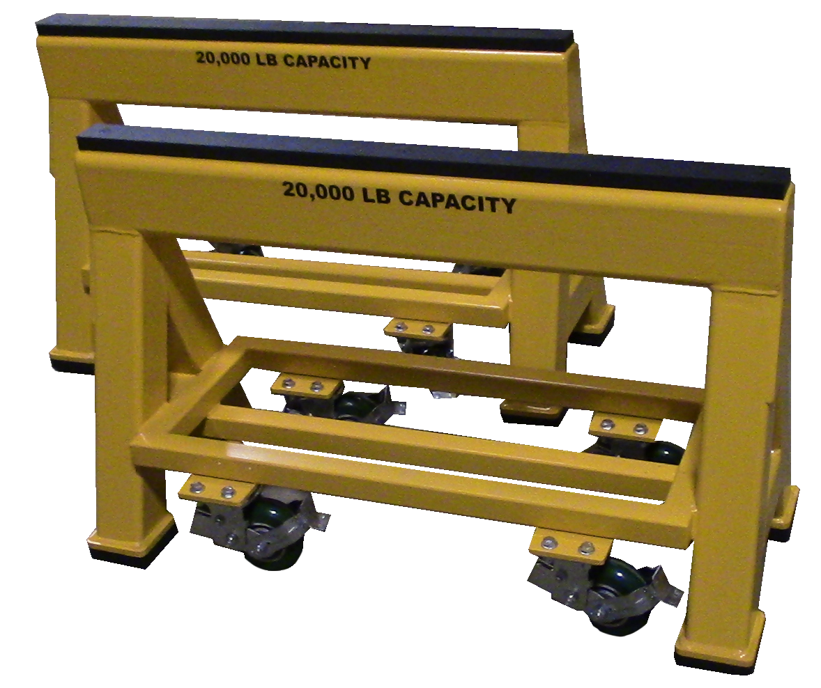 High Capacity Industrial steel sawhorse 20,000 LB. Spring Loaded Compression Caster (184139)