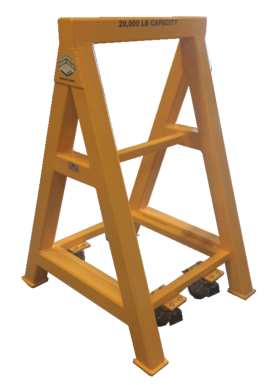 High Capacity Industrial steel sawhorse 20,000 LB. Steel Top Spring Loaded Compression Caster (184144)