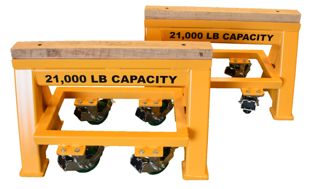 21,000 LB. Wood Top Spring Loaded Compression Caster Heavy Duty Work Horse (184248-1)