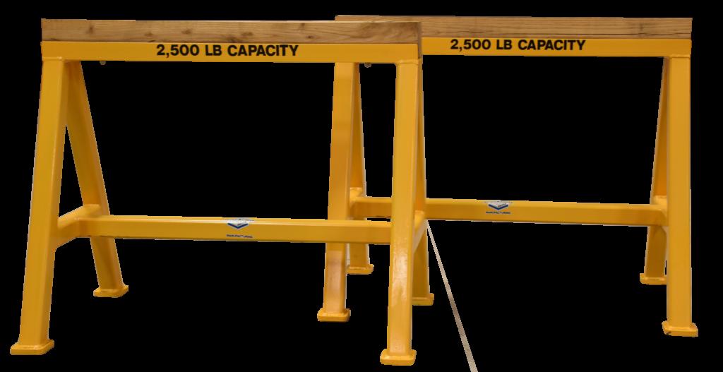 Heavy Duty Industrial steel sawhorse 2,500 LB. Stationary Wood Top (194599)