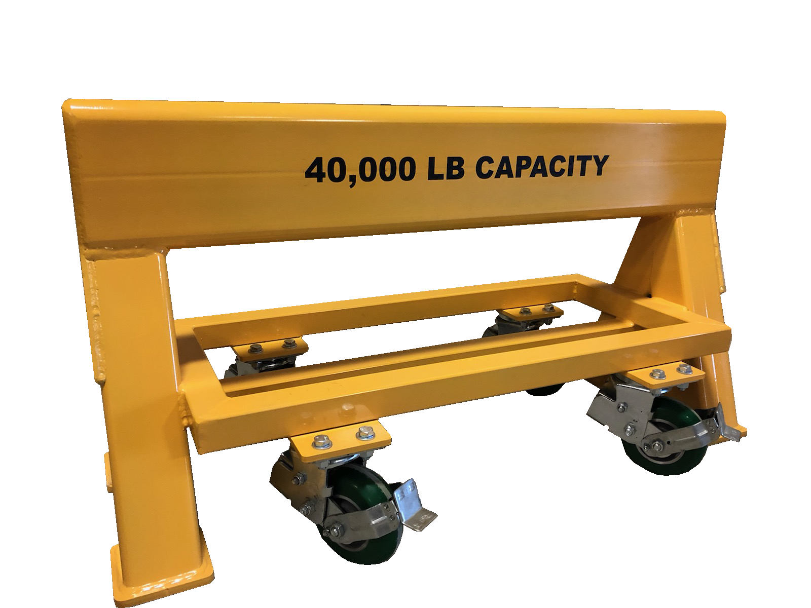 High Capacity steel sawhorse 40,000 LB. Steel Top Spring Loaded Compression Caster (184493)