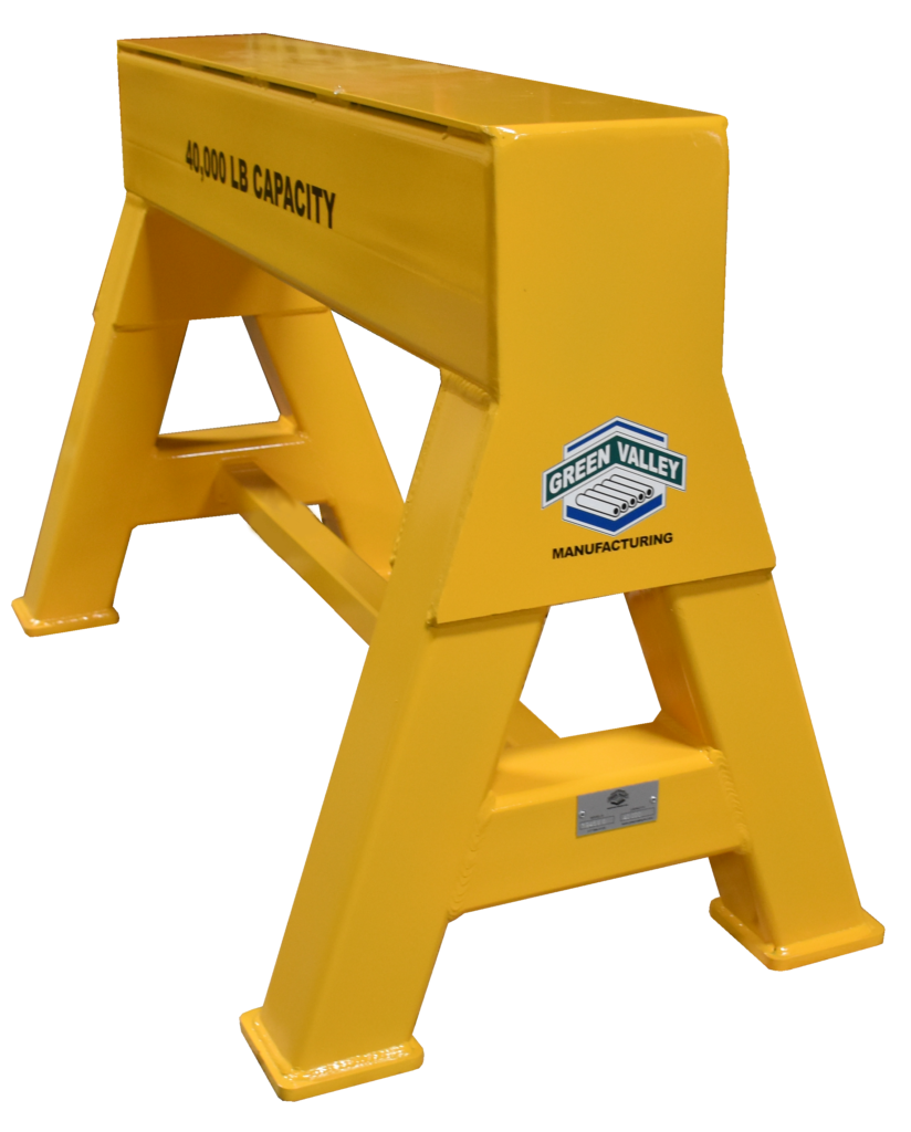 High Capacity Industrial steel sawhorse 40,000 LB. Steel Top Stationary (194566)