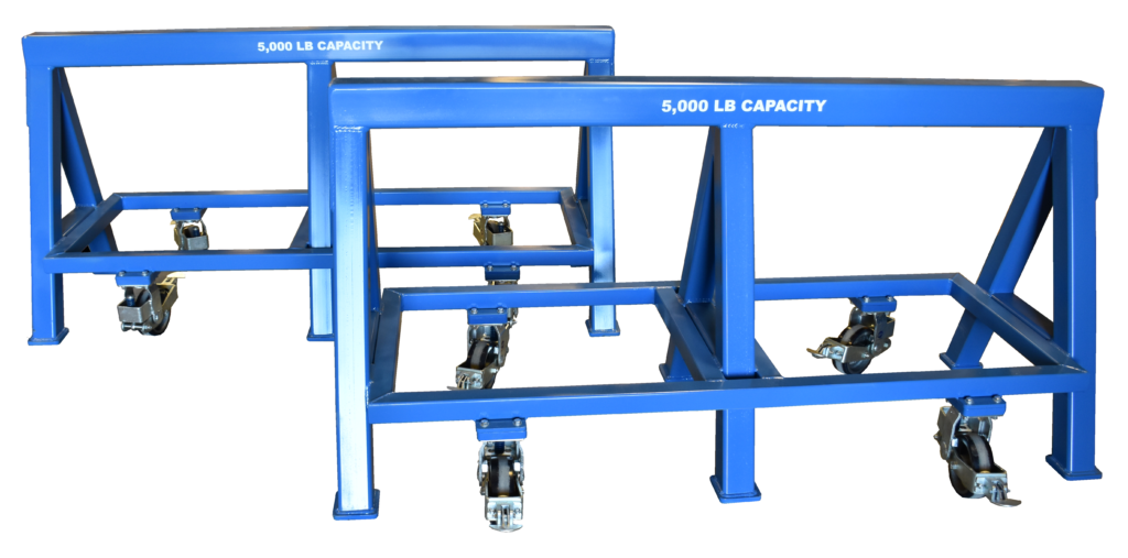 Heavy Duty Industrial steel sawhorse 5,000 LB. Steel Top Spring Loaded Compression Caster (184408)