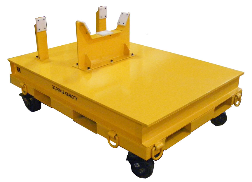 30,000 LB. Scooter Industrial Trailer for Material Handling with coil cradle