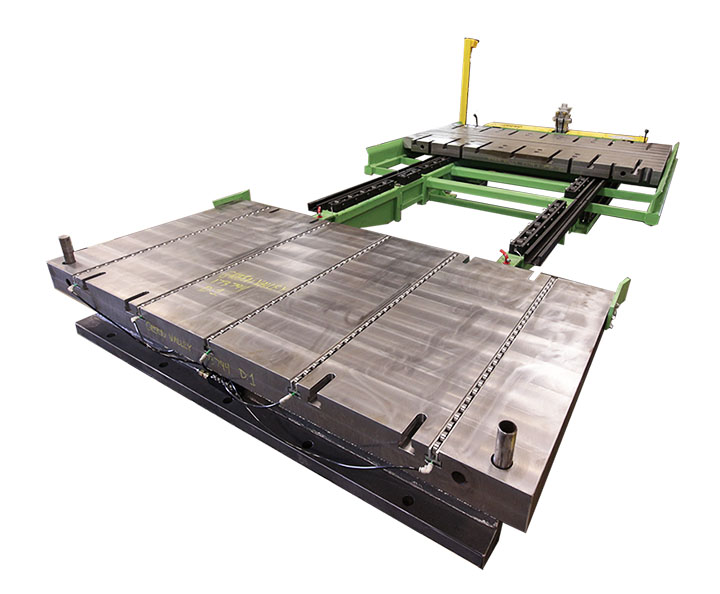 bolster plate table with pneumatic die lifters