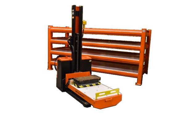 1,000 lb capacity Mini Titan UHMW Die Cart w/ storage rack